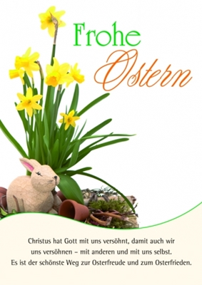 Postkarte - Frohe Ostern, mit Text